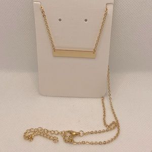 Gold Plated Necklace with Blank Plate